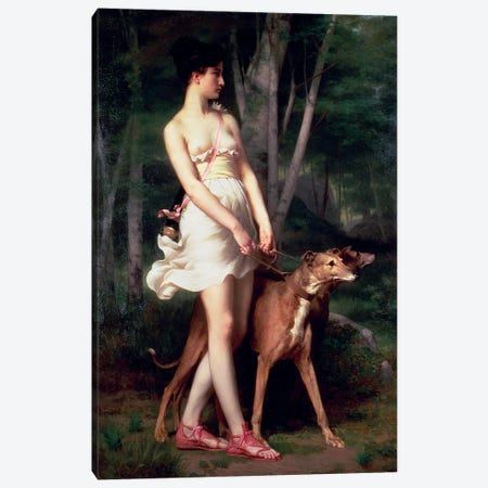 Diana The Huntress Canvas Print #BMN11514} by Gaston Casimir Saint-Pierre Canvas Print