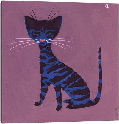 The Blue Cat, c.1970-79 Canvas Art Print