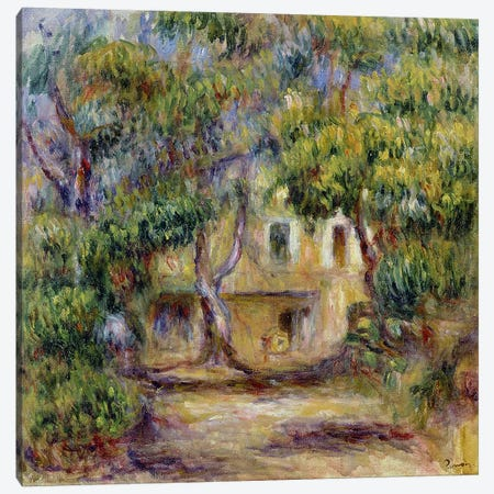 The Farm at Les Collettes, c.1915 Canvas Print #BMN1151} by Pierre-Auguste Renoir Canvas Wall Art