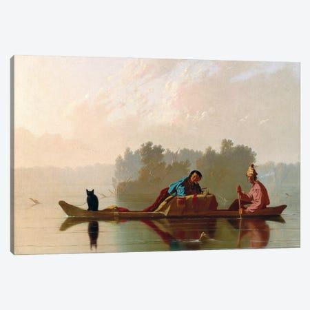 Fur Traders Descending The Missouri, 1845 Canvas Print #BMN11520} by George Caleb Bingham Art Print