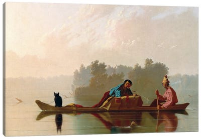 Fur Traders Descending The Missouri, 1845 Canvas Art Print