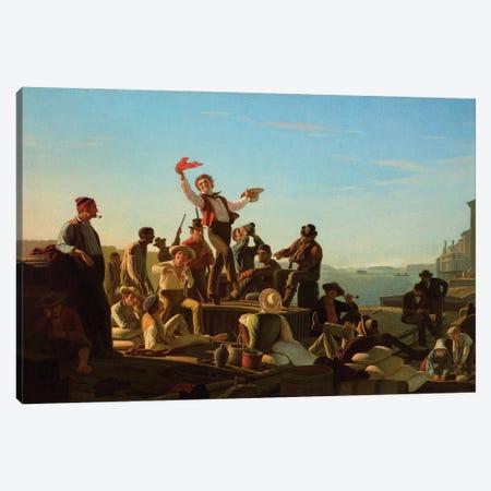 Jolly Flatboatmen In Port, 1857 Canvas Print #BMN11521} by George Caleb Bingham Canvas Art Print
