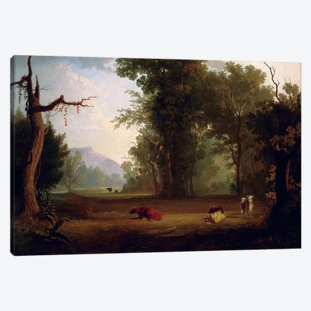 Landscape With Cattle, 1846 Canvas Print #BMN11522} by George Caleb Bingham Art Print