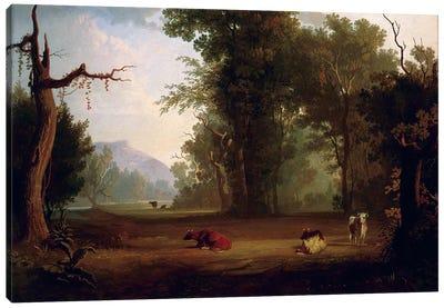 Landscape With Cattle, 1846 Canvas Art Print