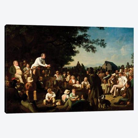 Stump Speaking, 1853–54 Canvas Print #BMN11524} by George Caleb Bingham Canvas Art