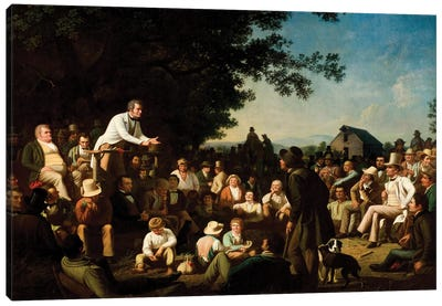 Stump Speaking, 1853–54 Canvas Art Print