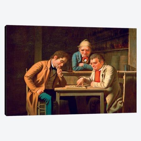 The Checker Players, 1850 Canvas Print #BMN11525} by George Caleb Bingham Canvas Art