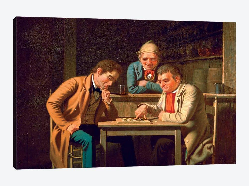 The Checker Players, 1850 by George Caleb Bingham 1-piece Art Print