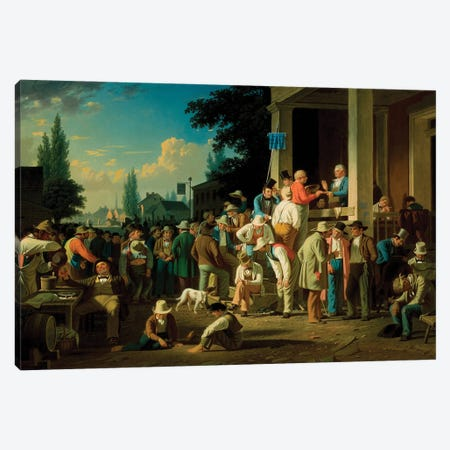 The County Election, 1852 Canvas Print #BMN11526} by George Caleb Bingham Canvas Art