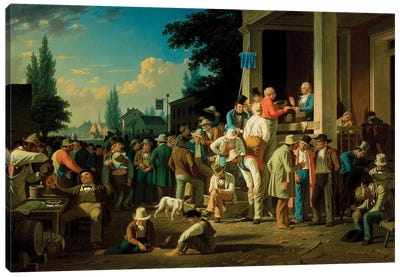The County Election, 1852 Canvas Art Print