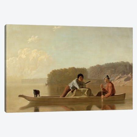 The Trapper's Return, 1851 Canvas Print #BMN11527} by George Caleb Bingham Canvas Artwork