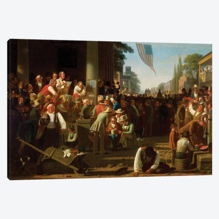 The Verdict Of The People, 1854–55 Canvas Print #BMN11528} by George Caleb Bingham Canvas Print