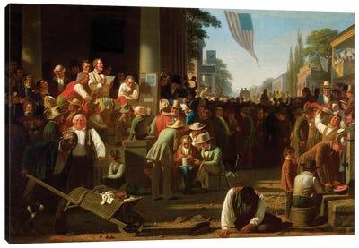 The Verdict Of The People, 1854–55 Canvas Art Print