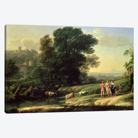 Landscape with Cephalus and Procris Reunited by Diana, 1645  Canvas Print #BMN1152} by Claude Lorrain Canvas Artwork