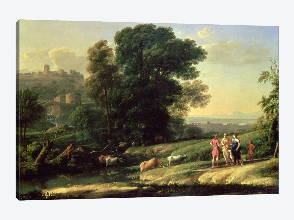Landscape with Cephalus and Procris Reunited by Diana, 1645  by Claude Lorrain 1-piece Canvas Art Print