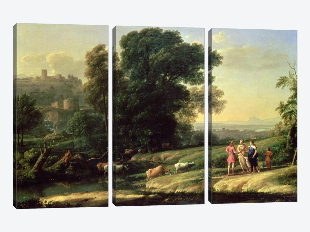 Landscape with Cephalus and Procris Reunited by Diana, 1645  by Claude Lorrain 3-piece Art Print
