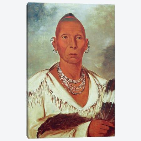 Múk-a-tah-mish-o-káh-kaik (Black Hawk), Prominent Sac Chief, 1832 Canvas Print #BMN11531} by George Catlin Canvas Artwork