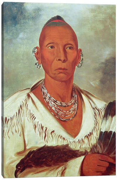 Múk-a-tah-mish-o-káh-kaik (Black Hawk), Prominent Sac Chief, 1832 Canvas Art Print