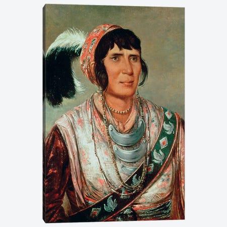 Os-ce-o-lá (The Black Drink), A Warrior Of Great Distinction, 1838 Canvas Print #BMN11533} by George Catlin Canvas Art