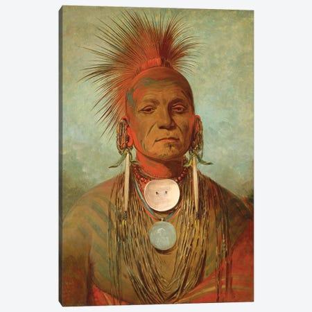 See-non-ty-a, An Iowa Medicine Man, c.1844-45 Canvas Print #BMN11534} by George Catlin Canvas Art Print