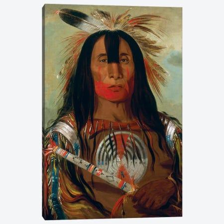 Stu-mick-o-súcks (Buffalo Bull's Back Fat), Head Chief, Blood Tribe, 1832 Canvas Print #BMN11535} by George Catlin Canvas Art Print