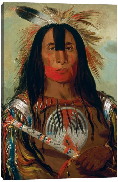 Stu-mick-o-súcks (Buffalo Bull's Back Fat), Head Chief, Blood Tribe, 1832 Canvas Art Print