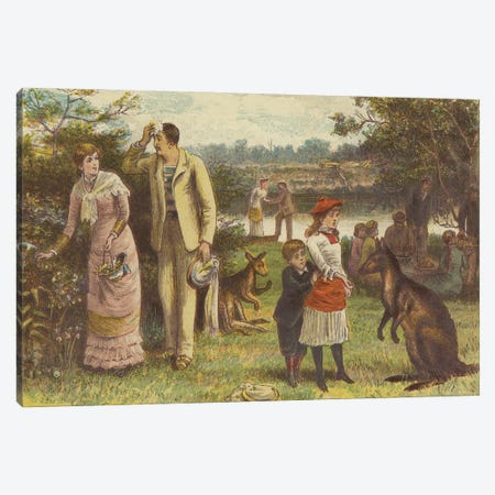Christmas In Australia (Illustration From The Graphic, Christmas Number 1881) Canvas Print #BMN11541} by George Goodwin Kilburne Art Print