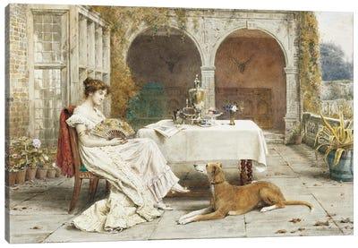 Faithful Friend At Tea Time Canvas Art Print