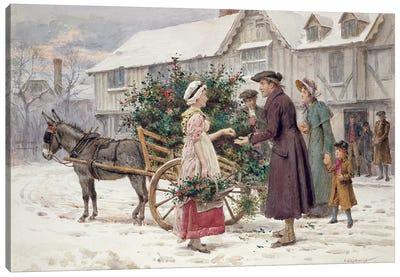 The Holly Cart Canvas Art Print
