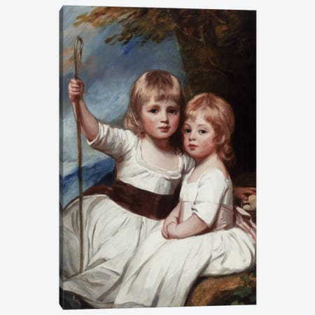 Mary And Louise Kent, c.1783-85 Canvas Print #BMN11548} by George Romney Canvas Art Print