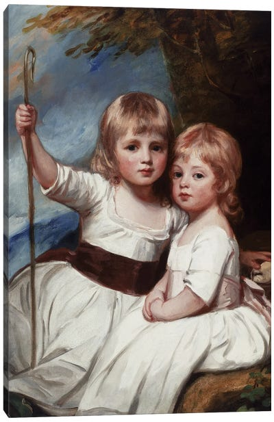 Mary And Louise Kent, c.1783-85 Canvas Art Print