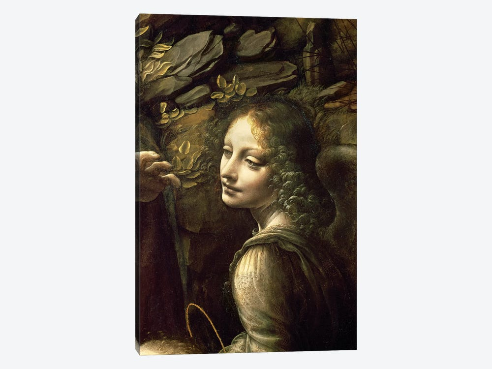 Detail of the Angel, from The Virgin of the Rocks  by Leonardo da Vinci 1-piece Art Print