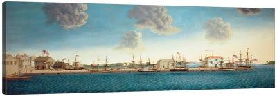 Crowninshield's Wharf, 1806 Canvas Art Print