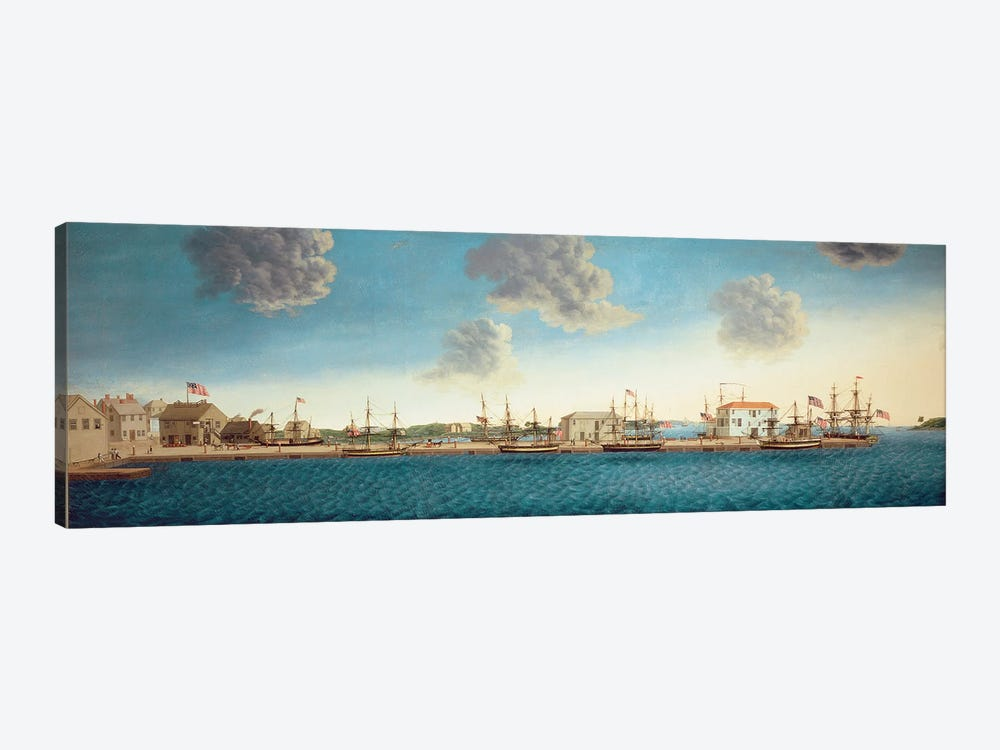 Crowninshield's Wharf, 1806 by George Ropes 1-piece Canvas Wall Art