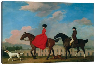 John And Sophia Musters Riding At Colwick Hall, 1777 Canvas Art Print