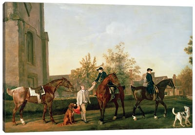 Lord Torrington's Hunt Servants Setting Out From Southill, Bedfordshire, c.1765-8 Canvas Art Print