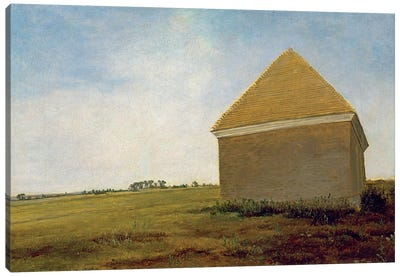Newmarket Heath, With The King's Stables Rubbing House At The Finish Of The Beacon Course, c.1765 (Post-Restoration) Canvas Art Print