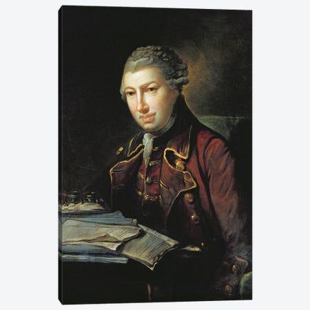 Charles Frederick Abel, Composer And Viola de Gamba Player, Son Of Christian Ferdinand Abel Canvas Print #BMN11586} by German School Canvas Artwork
