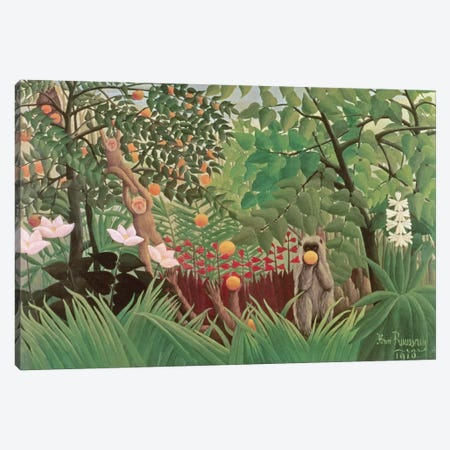Exotic Landscape, 1910 (Norton Simon Collection) Canvas Print #BMN1158} by Henri Rousseau Canvas Art
