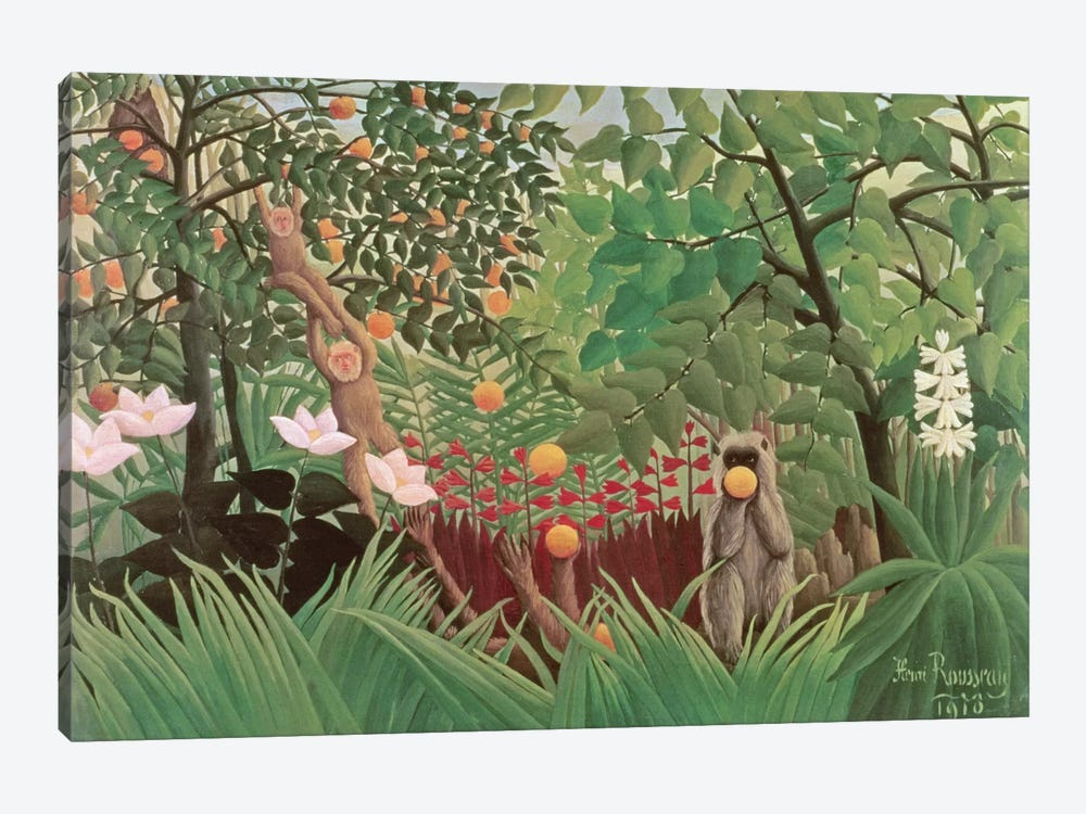 Exotic Landscape, 1910 (Norton Simon Collection) by Henri Rousseau 1-piece Art Print