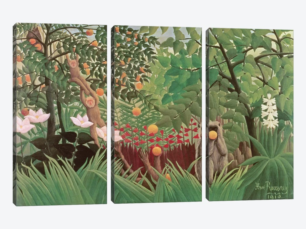 Exotic Landscape, 1910 (Norton Simon Collection) by Henri Rousseau 3-piece Art Print