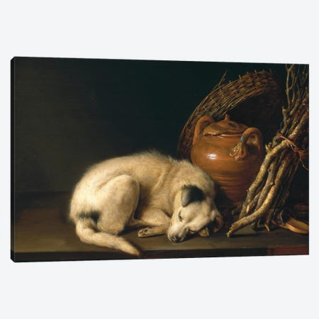 Dog At Rest, 1650 Canvas Print #BMN11592} by Gerrit Dou Canvas Artwork
