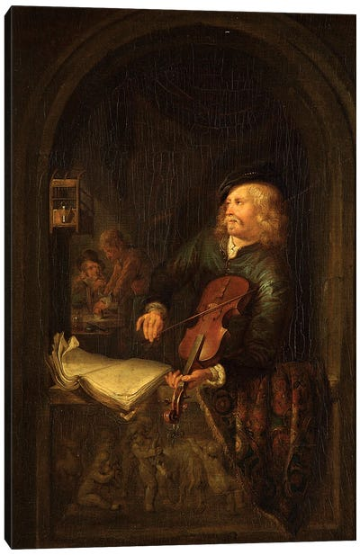 Man With A Violin Canvas Art Print