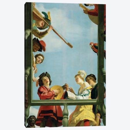 Musical Group On A Balcony, 1622 Canvas Print #BMN11596} by Gerrit van Honthorst Art Print