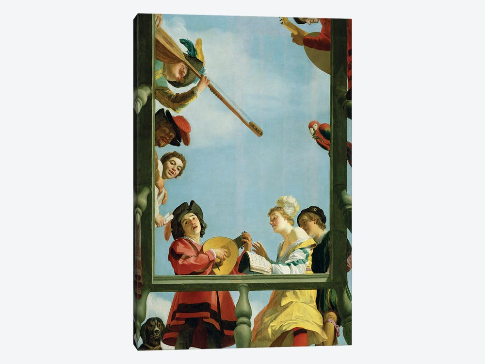 Musical Group On A Balcony, 1622 by Gerrit van Honthorst 1-piece Art Print