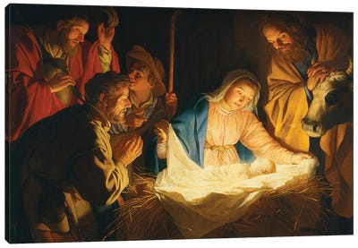 The Adoration Of The Shepherds, 1622 Canvas Art Print