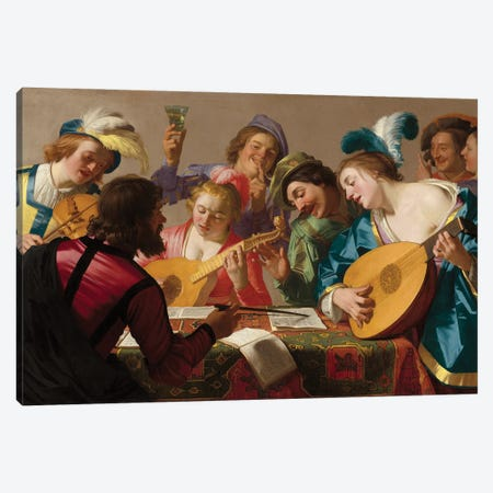 The Concert, 1623 Canvas Print #BMN11598} by Gerrit van Honthorst Canvas Artwork