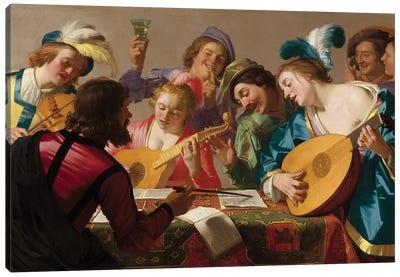 The Concert, 1623 Canvas Art Print