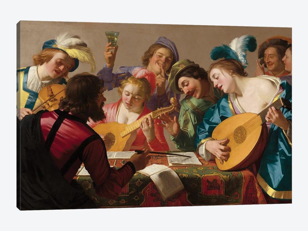 The Concert, 1623 by Gerrit van Honthorst 1-piece Canvas Print