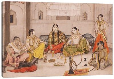 Group Of Nautch Girls, 1800-25 Canvas Art Print